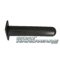 90° Rod Holder Rectangle BLACK Polypropylene