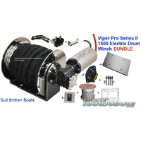 6mm 200m Rope Kit -1500 Electric Anchor Winch Bundle Viper Pro Series II