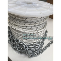 Rope & Chain Kit 100mtres of 6mm Double Braid + 8 mtr 6mm Short link Chain