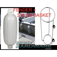 316 SS Fender Basket & Medium Fender Combo