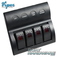 Waterproof 4 Gang Switch Panel Pre-Wired incl Circuit Breakers