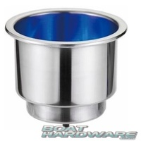 Blue LED Cup Drink Holder Stainless Steel