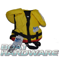 Child MEDIUM Blue Water Life Jacket (Yellow/Red)