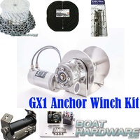 GX1 600W Anchor Winch Combo 60m X 6mm Kit