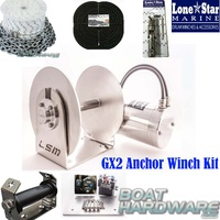 GX2 1000W Anchor Winch Combo 90m x 8mm KIT