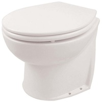 Slanted Salt Water Rinse 12V Deluxe Silent-Flush Compact Height Electric Toilet - Jabsco
