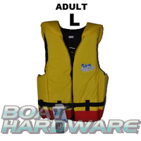 Adult LARGE Blue Water Life Jacket (Yellow/Red)