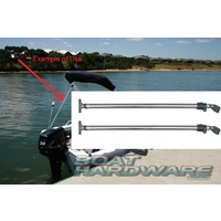 Bimini Support Poles Telescopic 700-1250mm (Sold in Pairs)