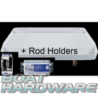 Bait Board - Large Rod Holder Mount with Rod Holders (MA105-1 MA102-1)  A28+A52