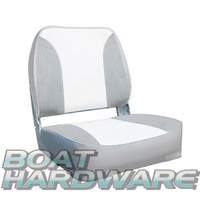 Deluxe Folding Seat Grey/White MA704-32