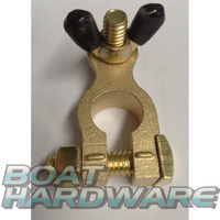 Solid Brass Battery Terminal - Negative