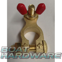 Solid Brass Battery Terminal - Positive