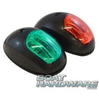 LED Navigation Lights - Side Mount BLACK RWB1080