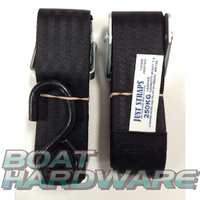 Transom Hook to Hook tie downs (pair) 50mm RWB