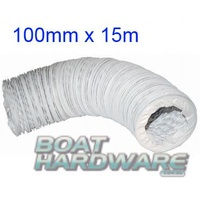 Flexible Vent / Blower Hose 100mm (WHITE) (15m Bulk Pack)
