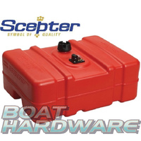 Scepter Fuel Tank Plastic with Gauge - Low Profile 45 Litre