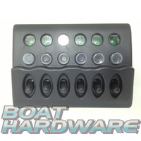 Waterproof LED 6 Switch Panel with Circuit Breaker