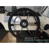 Steering Wheel - Stainless Steel 360mm 6 Spoke