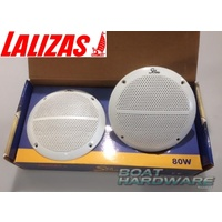 "Waterproof Round Speaker Set - 80W 5-1/4"" Two Way"