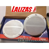 "Waterproof Round Speaker Set - 100W 6.5"" Two Way"