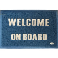 Welcome Door Mat - Blue/Silver 600*400mm