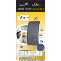 Semi Flexible Solar Panel Kit 20watt