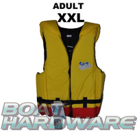 Adult XXLarge Blue Water Life Jacket (Yellow/Red)