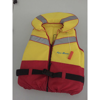 Adult XXLarge Aqua - Marine Life Jacket (Yellow/Red)