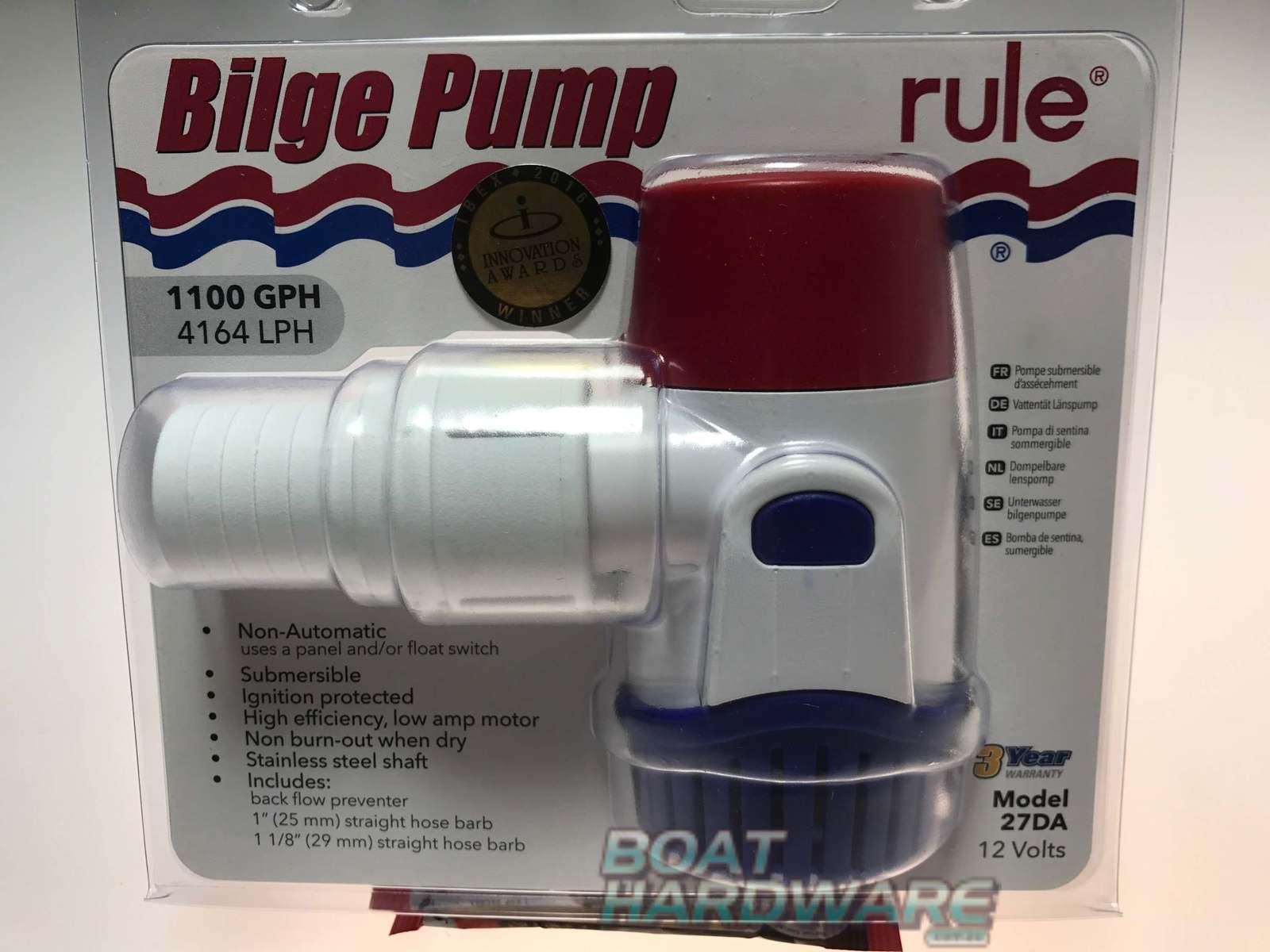 new model rule electric bilge pump 1100 gpm rule. Black Bedroom Furniture Sets. Home Design Ideas
