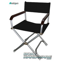 RELAXN® Folding Deck Chair - BLACK
