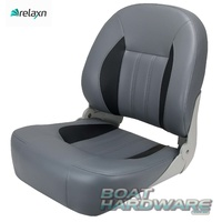 Relaxn® Barra Series Boat Seat GREY / BLK