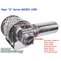 "Viper ""Micro"" S Series 1000 Anchor Winch Bundle 30038-6mm60m"
