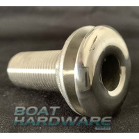 "Skin Fittings Stainless Steel 1/2"" through hull outlet"