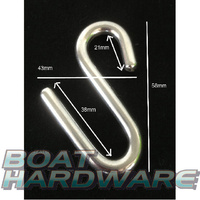 S Hook 6mm Stainless Steel