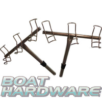 3 way Rod Holder Pair- (Port & Starboard) Stainless Steel (99080)