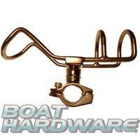 Rod Holder RAIL MOUNT Double Wire Stainless Steel