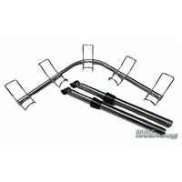 5 Way Corner Rod Holder 316 SS (Adjustable Clamp on)