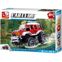 CAR CLUB RED Offroad Vehicle Sluban Building Block Set 145pcs Model B0663B