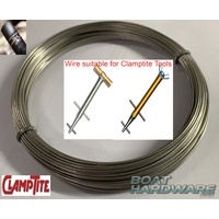 1 x 12 Metre Roll Stainless Steel Wire 304 .041 - Clamptite Replacement Wire