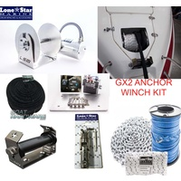 GX2 1000W Anchor Winch Combo 180m x 5mm Hi Spec Rope & Chain Kit