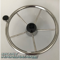 Steering Wheel - 316 Stainless Steel 340mm with Control Knob