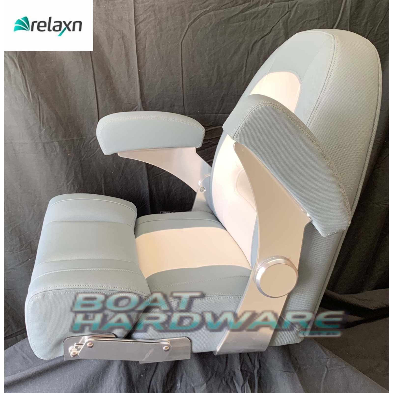 High Back Boat Seat - Cruiser Series (Relaxn) Grey/White
