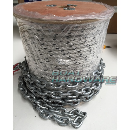 Rope & Chain Kit 75mtres of 8mm Triple Strand + 8 mtr 6mm Short link Chain 30010