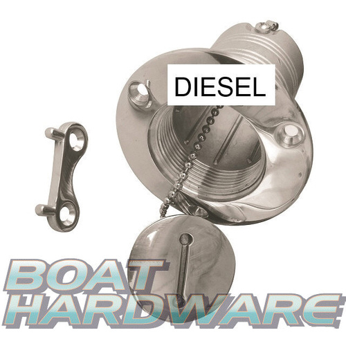 "Hose Deck Filler 1-1/2""  Stainless Steel - DIESEL"