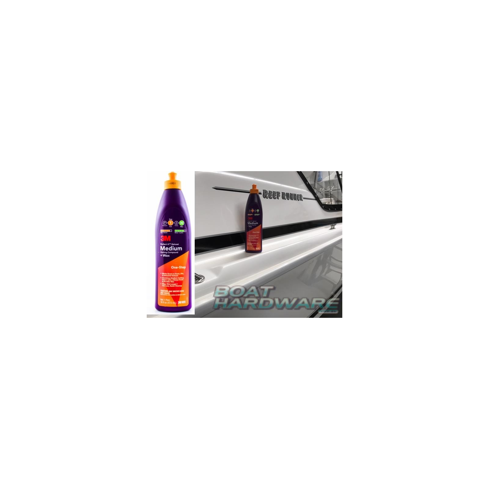 3M™ Perfect-It™ Gelcoat Medium Cutting Compound + WAX 36105
