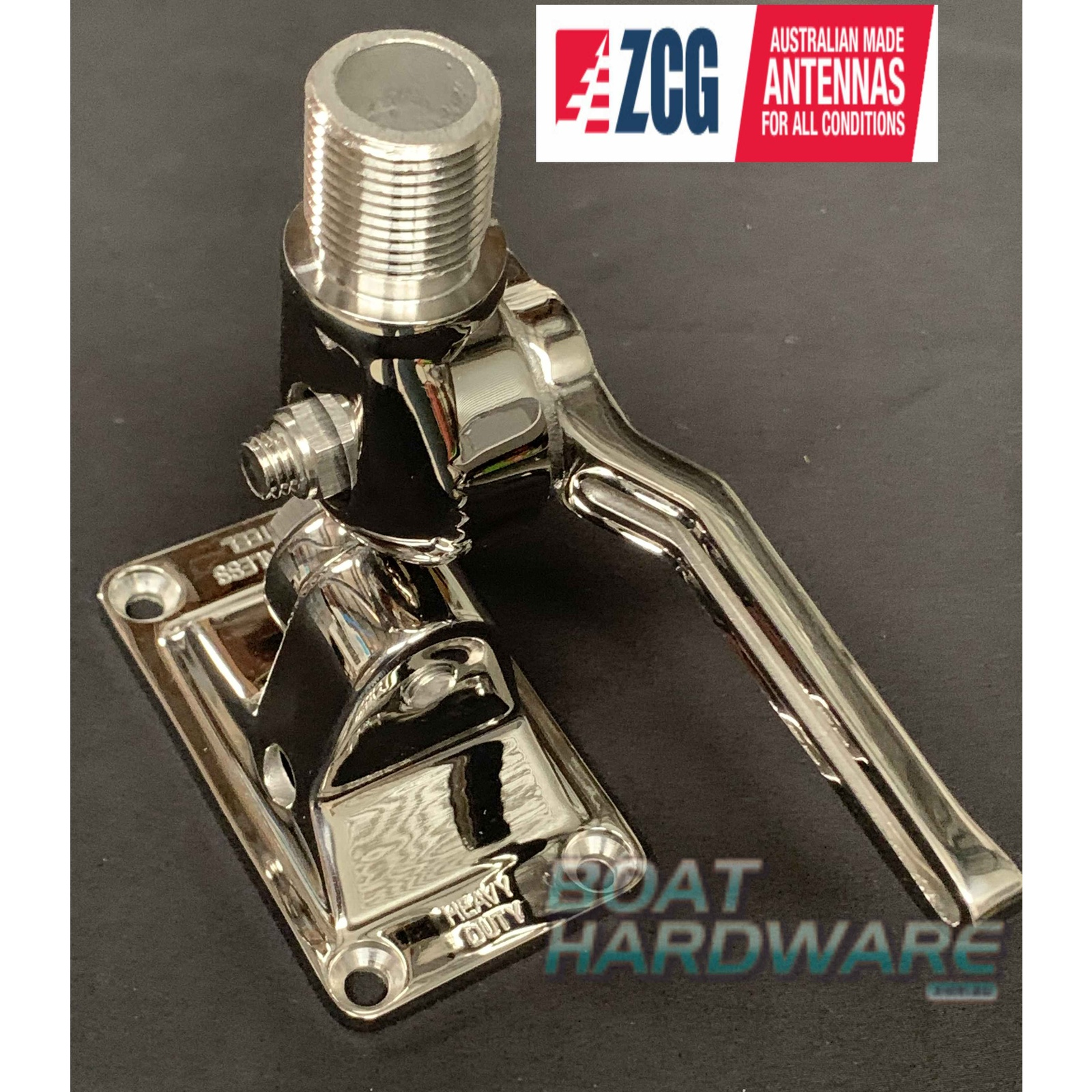 "ZCG 6"" Antenna Ratchet Mount Heavy Duty Stainless Steel"