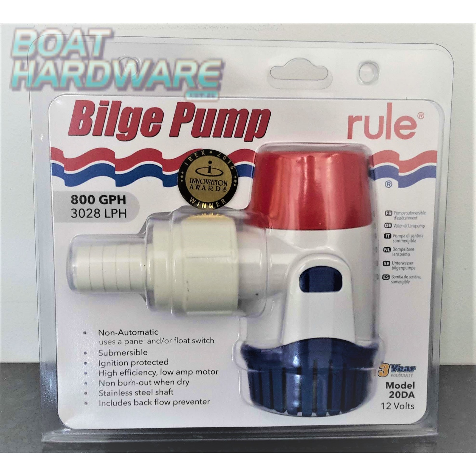 NEW MODEL Rule Electric Bilge Pump 800 GPM